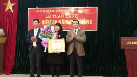 Trao tang Huy hieu 30 nam tuoi Dang cho dang vien Ngo Ngoc Thuy - Anh 1
