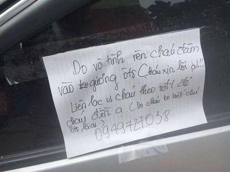 Hoc sinh 'viet loi xin loi tren kinh xe' gay xon xao noi gi? - Anh 1