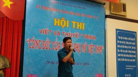 Bao tang Phu nu Nam Bo: To chuc vong chung ket cuoc thi 'Cong duc cua nguoi phu nu Viet Nam' - Anh 3
