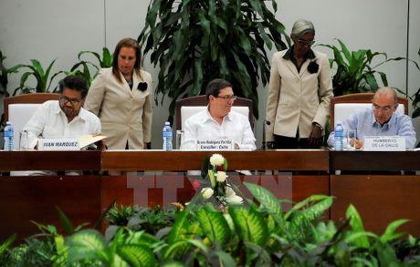 Tong thong Colombia: Thoa thuan hoa binh gop phan doan ket dat nuoc - Anh 1