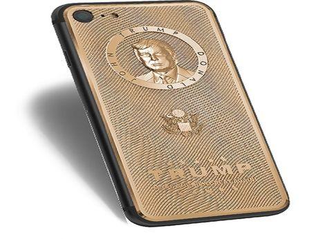 iPhone ma vang khac hinh Donald Trump, gia cao - Anh 1
