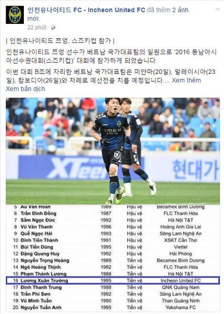 Incheon keu goi fan Han Quoc co vu Xuan Truong da AFF Cup 2016 - Anh 1