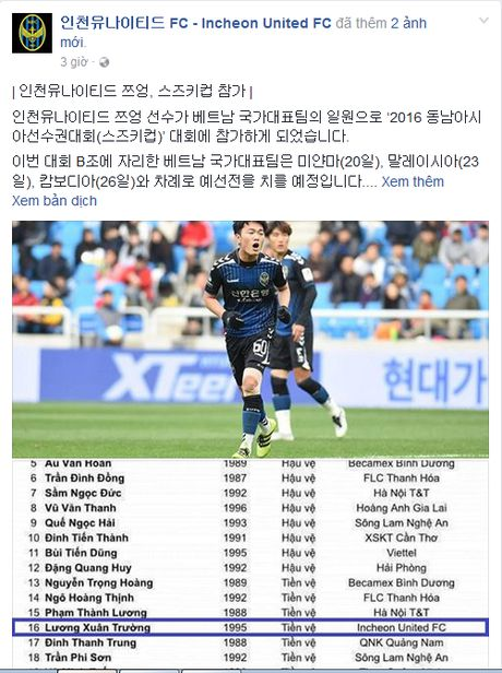 Xuan Truong duoc CLB Incheon United 'tiep lua' tai AFF Cup 2016 - Anh 2