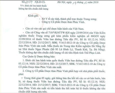 Duoc thao Phuc Vinh phot lenh thu hoi... van ban tieu doc PV - Anh 2