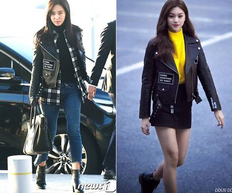 Yuri - Do Yeon so tai mix do khi dien cung mot chiec ao jacket - Anh 5