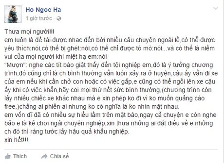 Ho Ngoc Ha tiet lo co va Cuong do la van thuong muon xe cua nhau - Anh 4
