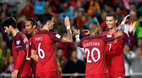 Ronaldo bo lo qua phat den trong chien thang 4-1 truoc Latvia - Anh 1