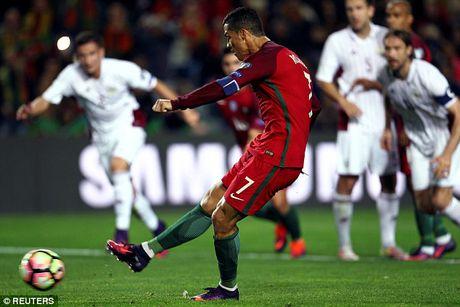 Ronaldo bo lo qua phat den trong chien thang 4-1 truoc Latvia - Anh 2