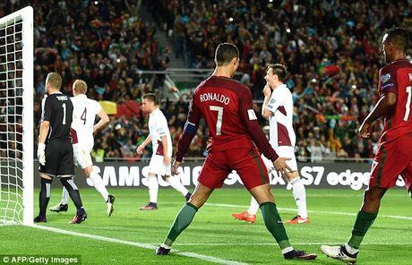 Ronaldo bo lo qua phat den trong chien thang 4-1 truoc Latvia - Anh 3