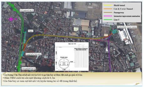 Thiet ke tuyen metro vao san bay Tan Son Nhat - Anh 2