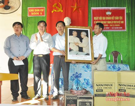 Pho Chu tich HDND tinh Hoang Viet Duong du ngay hoi dai doan ket tai Do Luong - Anh 4