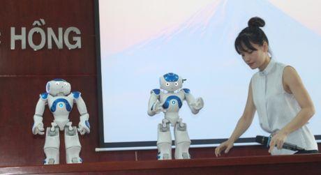Dong Nai: Dua robot vao phuc vu giang day - Anh 2