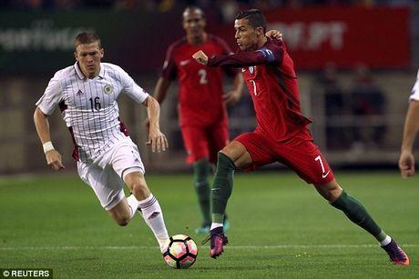 Vong loai World Cup 2018: Ronaldo giup Bo Dao Nha pha 'be tong' - Anh 1
