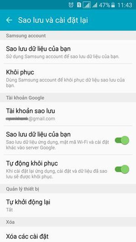 Sao luu du lieu dien thoai Android - Anh 3