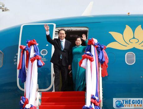 Chu tich nuoc len duong tham chinh thuc Cuba - Anh 1