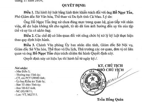 Khien trach Pho Giam doc So quang tay vao dui nu tap vu - Anh 2