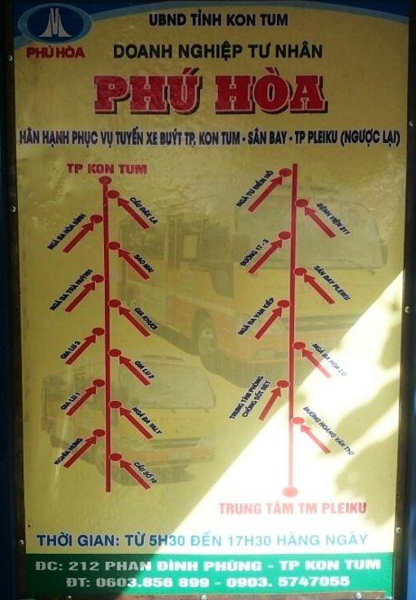 Gia Lai va Kon Tum co tuyen xe buyt dau tien tai San bay Pleiku - Anh 3