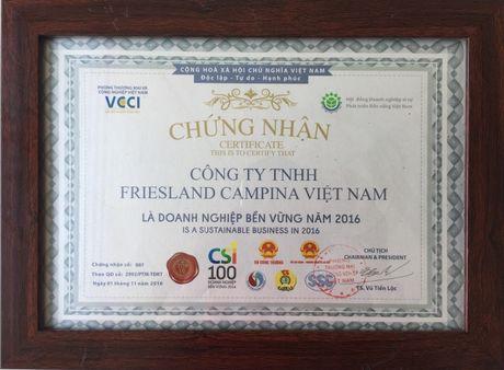 FrieslandCampina Viet Nam duoc vinh danh doanh nghiep ben vung - Anh 2