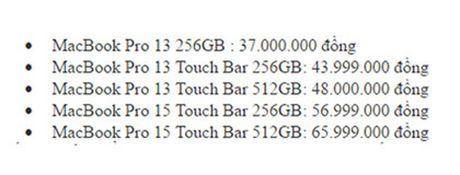 MacBook Pro 2016 chinh hang gia tu 37 trieu dong - Anh 2