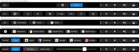 1Password ho tro van tay va Touch Bar tren MacBook Pro - Anh 2