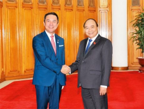Thu tuong Nguyen Xuan Phuc tiep Thong doc tinh Mi-e (Nhat Ban) - Anh 1