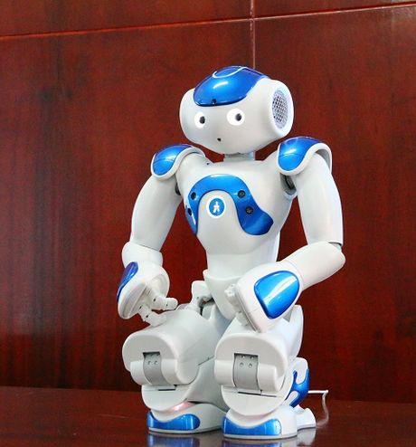 Robot co cam xuc giong con nguoi 'lam tro giang' dai hoc o Viet Nam - Anh 2