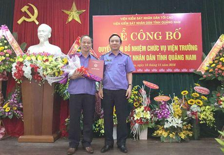 Bo nhiem Vien truong VKSND tinh Quang Nam - Anh 1