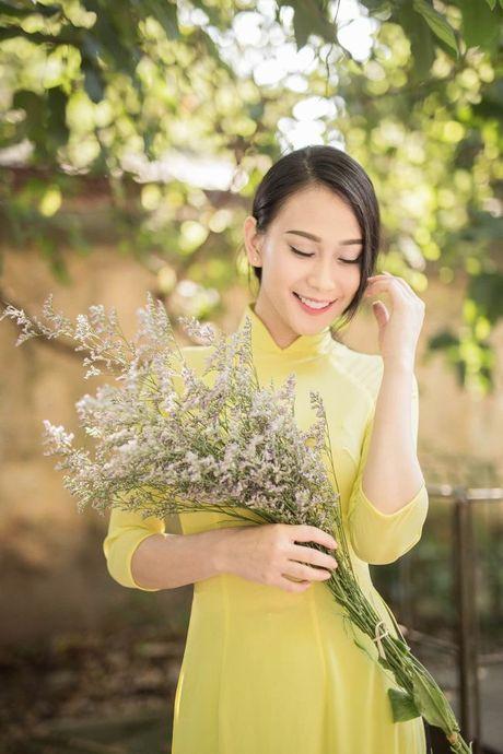 A hau Van Quynh dep me dam trong bo anh ao dai Ha thanh - Anh 6
