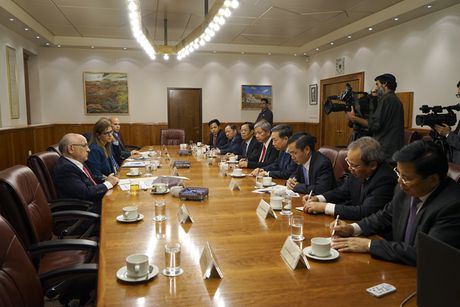 Bo truong To Lam chao xa giao Thu tuong Israel Benjamin Netanyahu - Anh 2