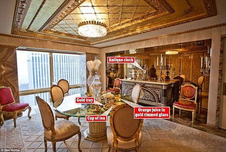 Ben trong can ho tang 66 tren thap Trump gia 100 trieu USD cua ong Donald Trump - Anh 3