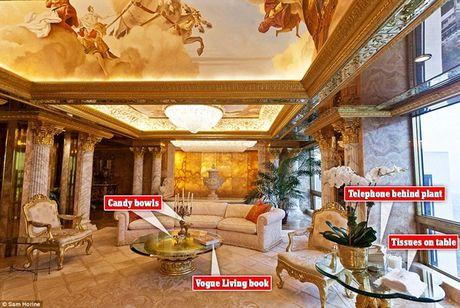 Ben trong can ho tang 66 tren thap Trump gia 100 trieu USD cua ong Donald Trump - Anh 4