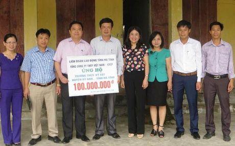 100 trieu dong ho tro tu sua khu noi tru cua Truong THCS Ky Tay - Anh 1