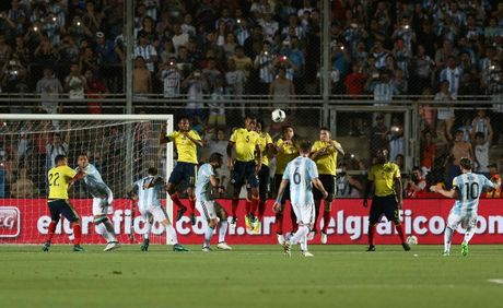 Argentina vs Colombia (3-0): Diem 10 cho Messi - Anh 13