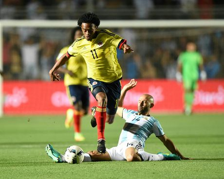 Argentina vs Colombia (3-0): Diem 10 cho Messi - Anh 18
