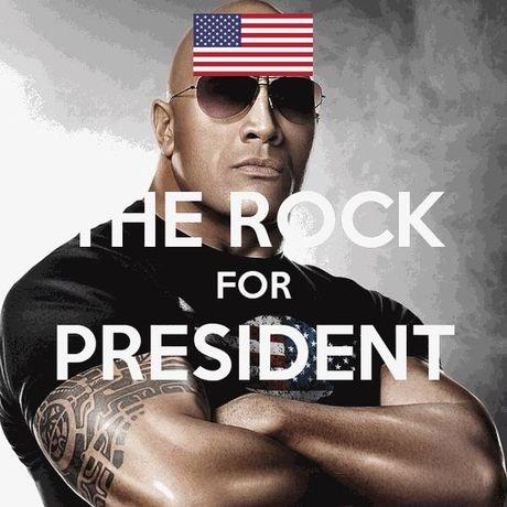 Ngoi sao co bap 'The Rock' muon tranh cu tong thong - Anh 2