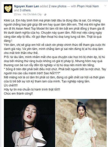 Bung no mau thuan giua Xuan Lan va BTC Vietnam's Next Top Model - Anh 2
