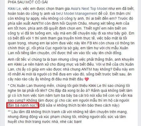 Bung no mau thuan giua Xuan Lan va BTC Vietnam's Next Top Model - Anh 3