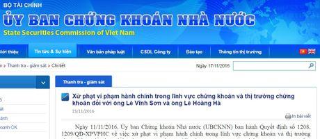 Hai anh em ong chu Cong ty CP Quoc te Son Ha bi phat 120 trieu dong - Anh 2
