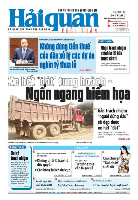 Nhung tin, bai hap dan tren Bao Hai quan so 139 phat hanh ngay 20-11-2016 - Anh 1