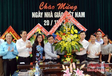 Lanh dao tinh chuc mung cac truong nhan ngay Nha giao Viet Nam 20/11 - Anh 1