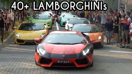 Choang ngop dan sieu xe Lamborghini dieu hanh tren pho - Anh 1