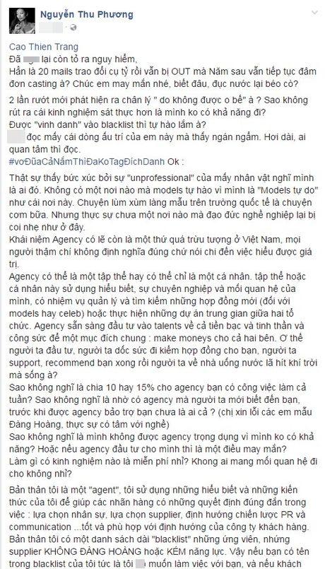 Cao Thien Trang phan phao the nao khi bi Fashionista Thythu Nguyen noi 'to ra nguy hiem'? - Anh 2