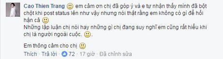 Cao Thien Trang phan phao the nao khi bi Fashionista Thythu Nguyen noi 'to ra nguy hiem'? - Anh 4