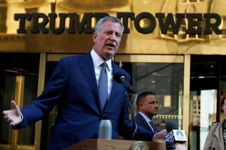 Thi truong Blasio noi nguoi dan New York 'so hai' vi ong Trump - Anh 1