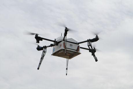 Domino bat dau giao pizza bang drone tai New Zealand - Anh 1
