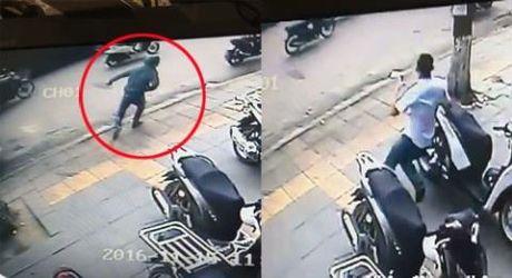 Clip: Thanh nien trom hut xe SH, bi duoi chay ban song - Anh 1