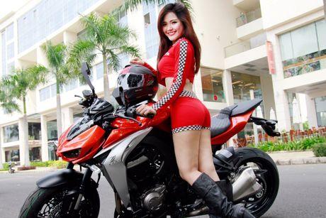 Bong hong 'sexy nong bong' ben Kawasaki Z1000 - Anh 3