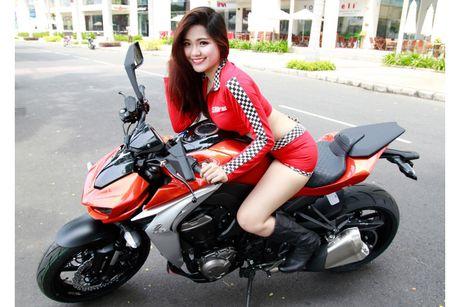 Bong hong 'sexy nong bong' ben Kawasaki Z1000 - Anh 7