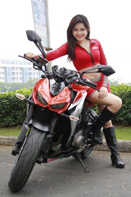 Bong hong 'sexy nong bong' ben Kawasaki Z1000 - Anh 8