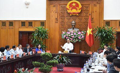 Thu tuong Nguyen Xuan Phuc lam viec voi lanh dao tinh An Giang - Anh 1